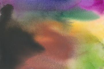 Aquarell abstrakt verlaufend.