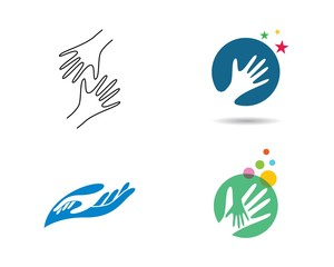 Hand logo illustration