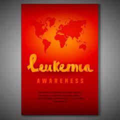 Leukemia awareness poster