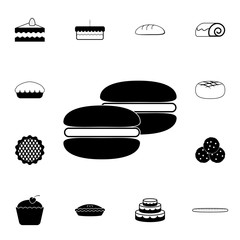 Macaroons icon. Detailed set of Bakery. Premium graphic design. One of the collection icons for websites, web design, mobile app
