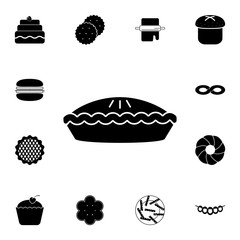 Pie icon. Detailed set of Bakery. Premium graphic design. One of the collection icons for websites, web design, mobile app