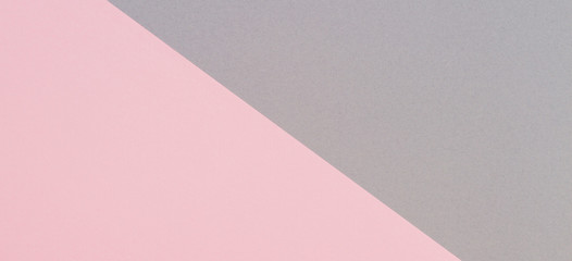 Abstract geometric shape gray and pink color paper banner background
