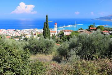 View of Zakynthos city. Zakynthos or Zante island, Ionian Sea, Greece.