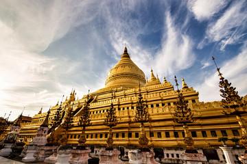 Shwezigon Pagoda in Pagan, Myanmar