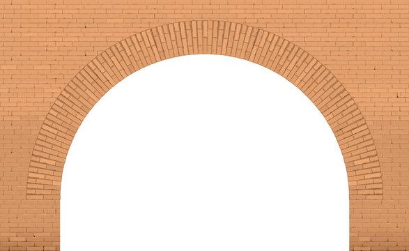 Old brick arch loft facade