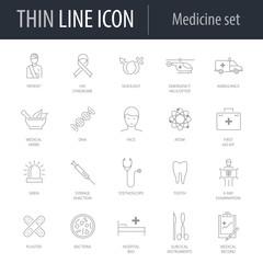 Icons Set of Medicine Icon