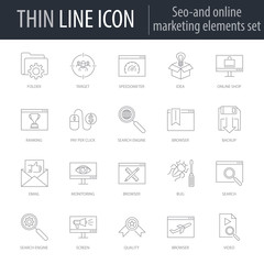 Icons Set of SEO Elements