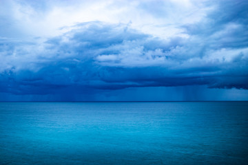 Blue storm over the ocean