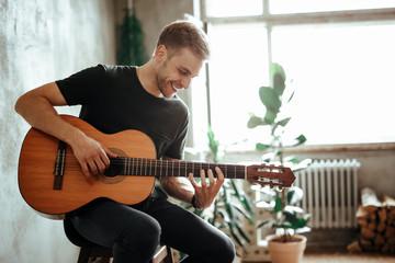 Guitarist at home