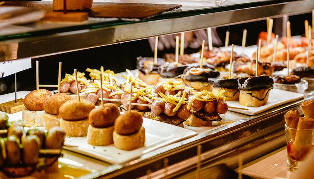 Spanish Tapas Food for sale in restaurant