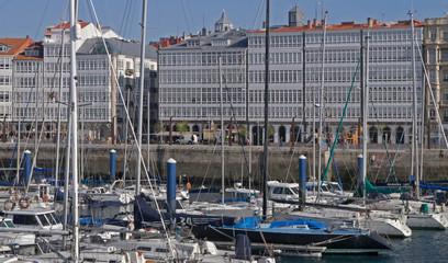 The port of La Coruna in Galicia