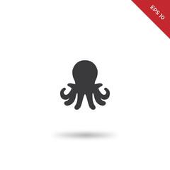 Aquarium octopus vector icon