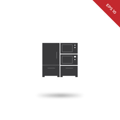 Kitchen electronic furniture vector icon