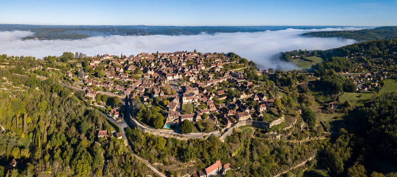 Aerial View from the village of Domme in the Dordogne, France