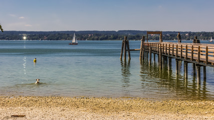 Beautiful view at the Ammersee-Bavaria-Germany