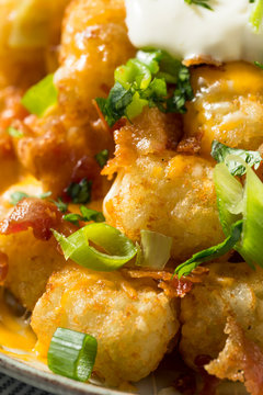 Spicy Homemade Loaded Taters Tots