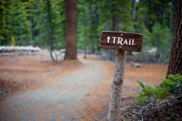 Trail Sign   Crater Lake National Park Oregon