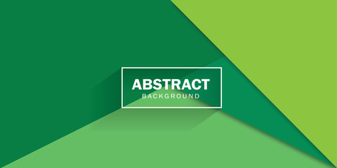 Modern corporate background in green tones. Vector business design. Wall mural