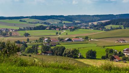 Beautiful view near Bad Griesbach-Bavaria-Germany Fototapete