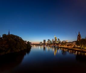 Frankfurt Main River Panorama night