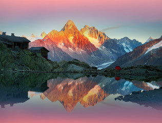Crystal Lakes Chamonix in the Alps