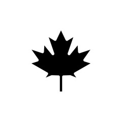 Maple Leaf icon. Simple glyph vector of web set for UI and UX, website or mobile application