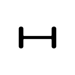 dumbbell icon. Simple glyph vector of web set for UI and UX, website or mobile application