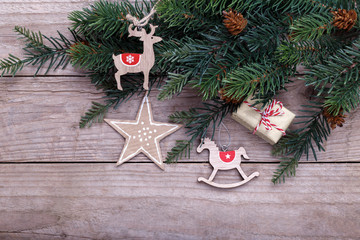 Christmas wooden toys
