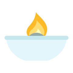 Lab burner icon. Flat illustration of lab burner vector icon for web design