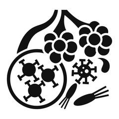 Virus alveoli icon. Simple illustration of virus alveoli vector icon for web design isolated on white background