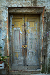 Old wooden door, Italy