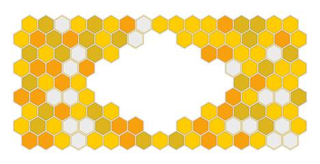 Bee comb pattern illustration