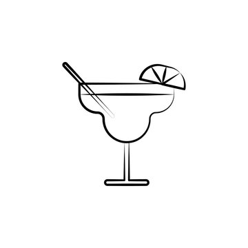 Margarita icon. Element of dia de muertos icon for mobile concept and web apps. Hand drawn Margarita icon can be used for web and mobile