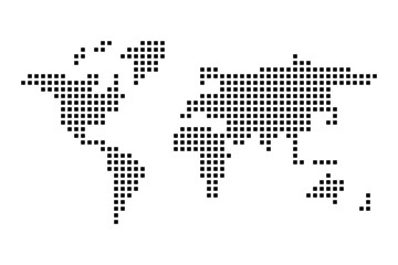 Wall Mural - Checkered World map. Simple flat vector illustration.