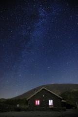 Starry Night On Refuge Of Etna Park, Sicily