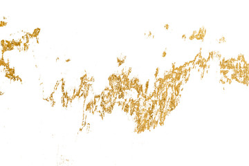 Gold splashes Texture. Brush stroke design element. Gold watercolor texture paint stain abstract illustration.