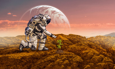 There is life on other planets. Mixed media
