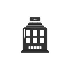 Casino building icon. Element of airport icon for mobile concept and web apps. Detailed Casino building icon can be used for web and mobile