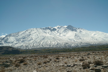 Pamir, Pamir Mountains, Pyanzh River, snowy peaks, Asia, Badakhshan