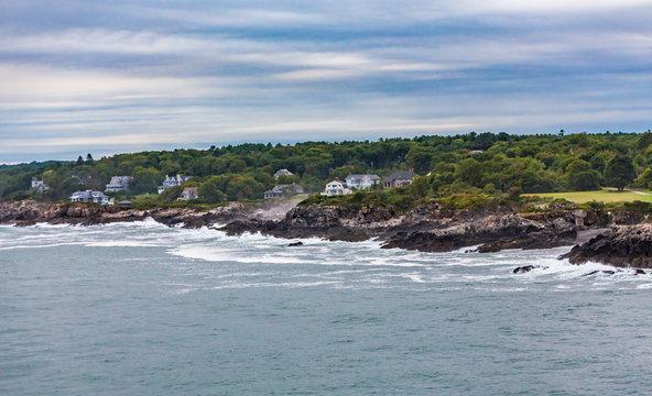 Mansions Along Maine Coast