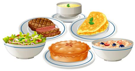 Set of food on plate