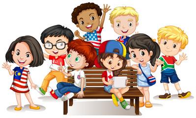 Group of international children