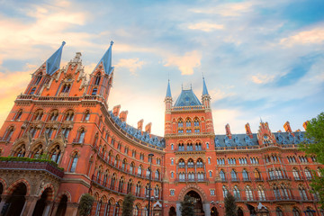 St Pancras station in London, UK