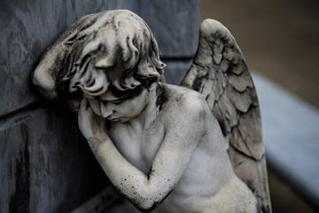 Angel Statue in La Recoleta Cemetery, Buenos Aires Argentina
