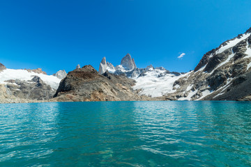 Mt. Fitz Roy & Laguna De los Tres, Beautiful Mountains of the Patagonia Region of Argentina