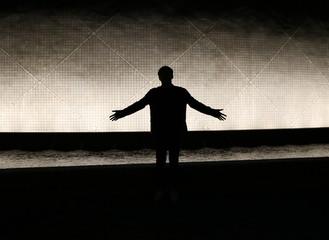 The man on the dark