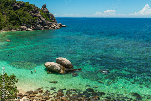 Freedom Beach On Koh Tao In Thailand Stock Photo And Royalty Free