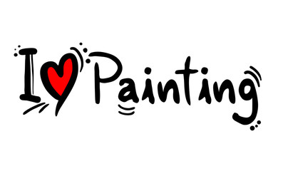 painting love message