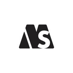 letter ms simple geometric logo