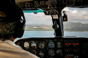 Pilot flying a plane